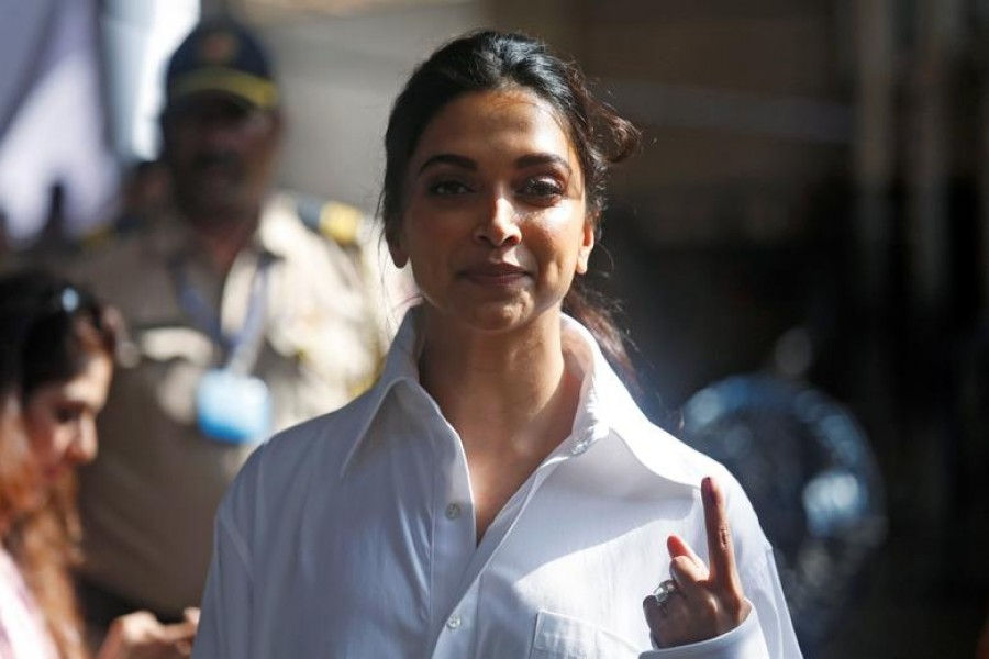 India actor Deepika Padukone, who has been summoned by Narcotics Control Bureau (NCB), is seen in this undated Reuters photo