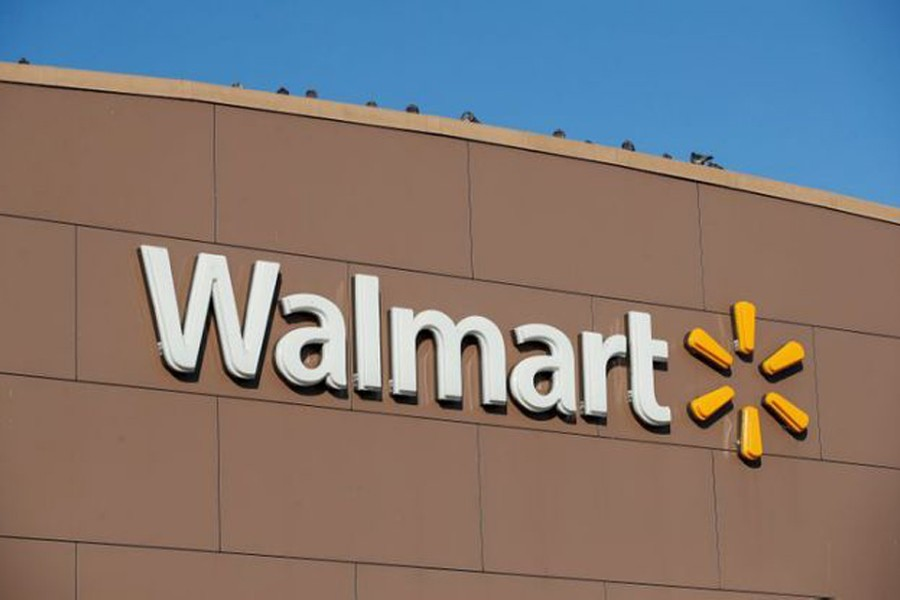 Walmart's logo is seen outside one of the stores in Chicago, Illinois, US on November 20, 2018 — Reuters/Files
