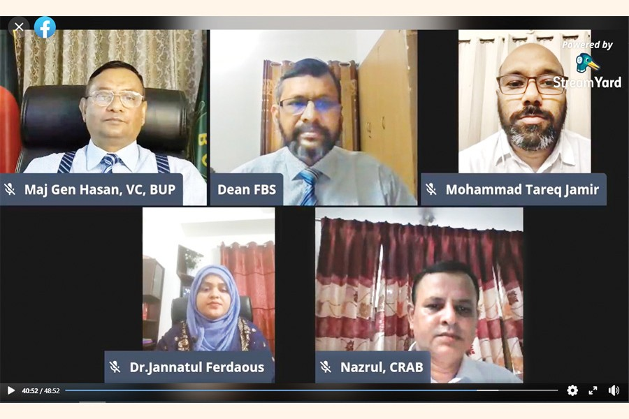 Dignitaries attending the ceremony of Excel Maestros 2020 via Zoom meeting