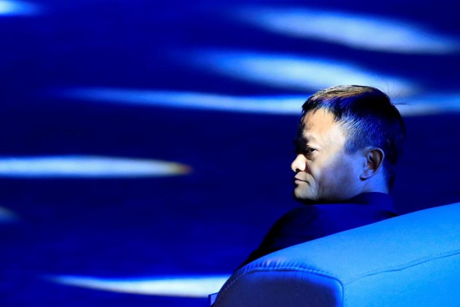 """Jack Ma, chairman of Alibaba Group, arrives at the """"Tech for Good"""" Summit in Paris, France, May 15, 2019 -- Reuters/Files"""