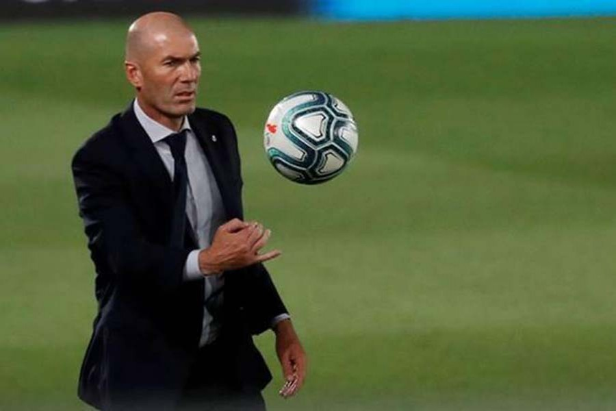 Real Madrid coach Zidane tests positive for Covid-19