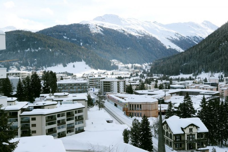 A view shows the congress center at the Promenade street as the coronavirus disease (COVID-19) continues in Davos, Switzerland January 22, 2021. REUTERS/Arnd Wiegmann