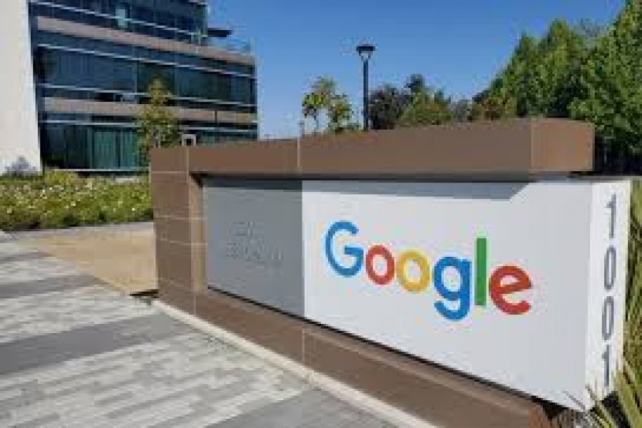 A sign is pictured outs a Google offcie near the company's headquarters in Mountain View, California, US, May 8, 2019 — Reuters/Files