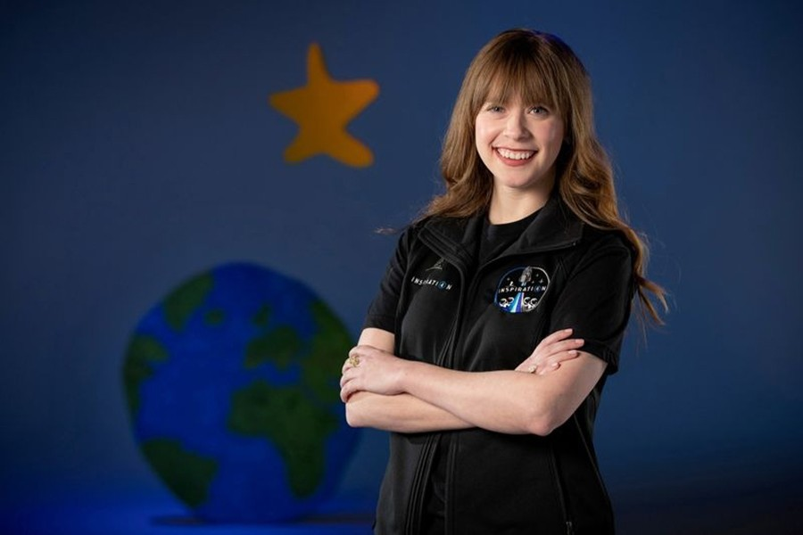 Hayley Arceneaux, a 29-year-old physician assistant at St Jude Children's Research Hospital and pediatric bone cancer survivor, who has been chosen for historic Inspiration4 all-civilian mission to Space, poses in an undated photograph — Handout via REUTERS
