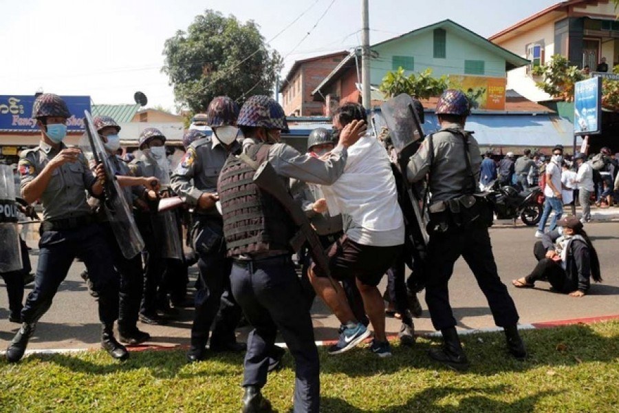 Myanmar forces kill over 18 coup protesters: UN rights office