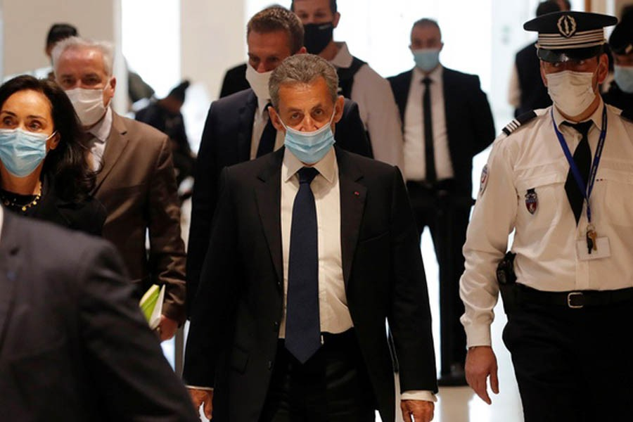 Former French president Sarkozy convicted of corruption, handed prison sentence