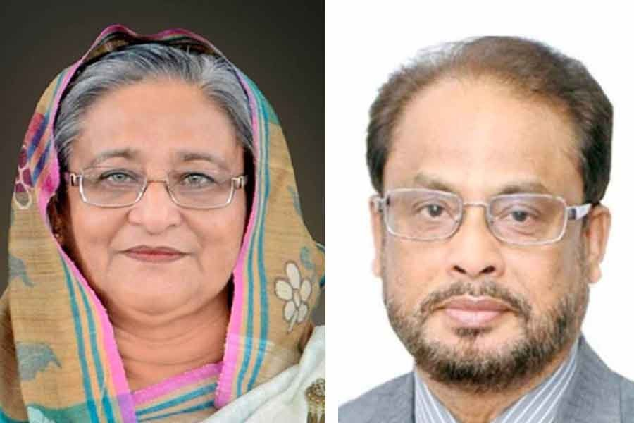 GM Quader greets PM on Bangla New Year