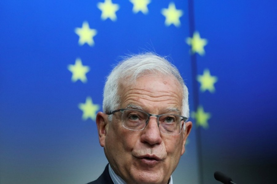 European Union High Representative for Foreign Affairs Josep Borrell attends a news conference after a EU-Georgia association council in Brussels, Belgium, March 16, 2021. REUTERS/Yves Herman/Pool/File Photo