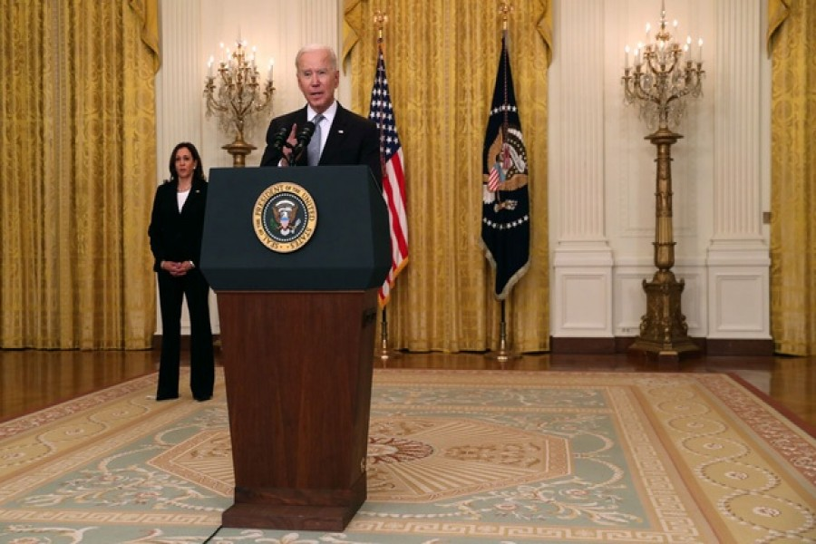 US President Joe Biden delivers remarks from the East Room of the White House in Washington, US May 17, 2021 - Reuters photo