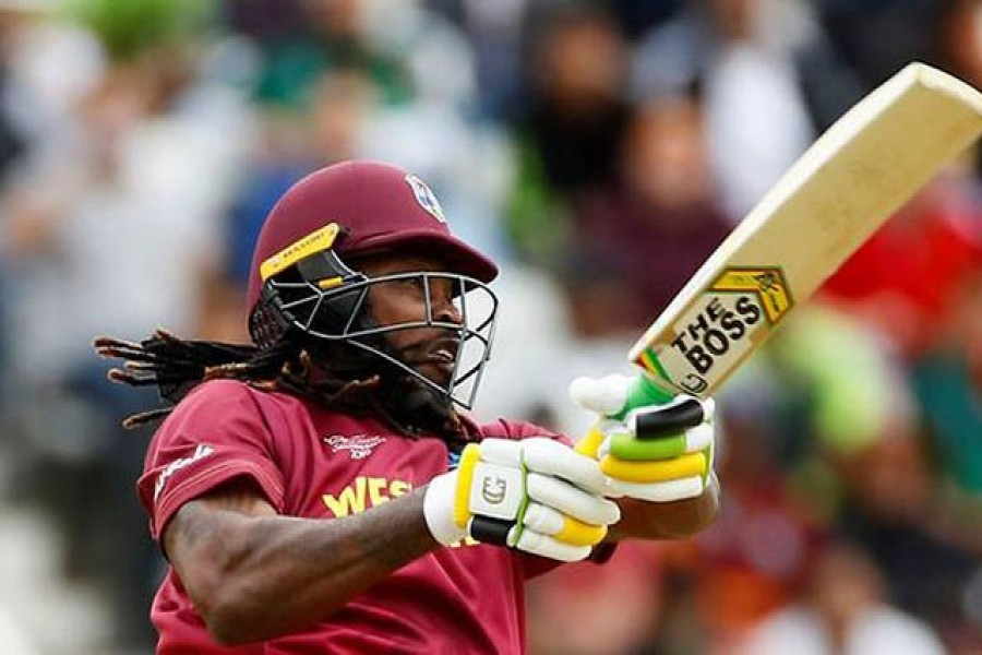 The West Indies' Chris Gayle in action against Pakistan at Trent Bridge during the 2019 ICC Cricket World Cup on May 31, 2019. (File photo: Reuters/Jason Cairnduff, Action Images)