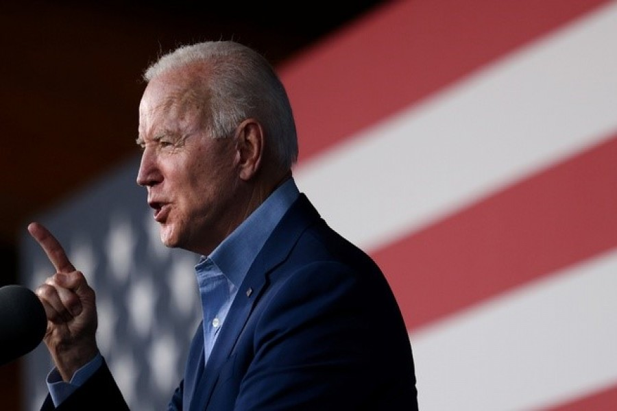 US President Joe Biden participates in a campaign event for Virginia gubernatorial candidate Terry McAuliffe at Lubber Run Park in Arlington, Virginia, US, July 23, 2021 — Reuters