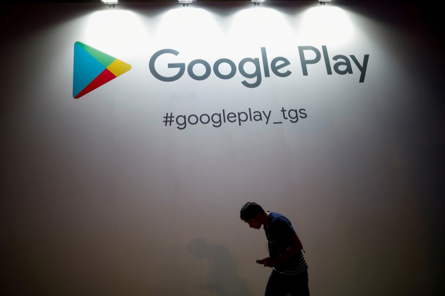 The logo of Google Play is displayed at Tokyo Game Show 2019 in Chiba, east of Tokyo, Japan, September on 12, 2019 — Reuters/Files