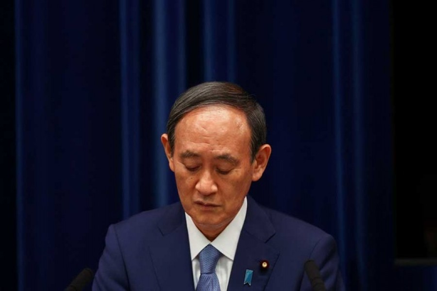 Japan's Prime Minister Yoshihide Suga attends a news conference on Japan's response to the coronavirus disease (COVID-19) pandemic, at his official residence during the Tokyo 2020 Olympic Games in Tokyo, Japan, July 30, 2021 — Reuters/Files