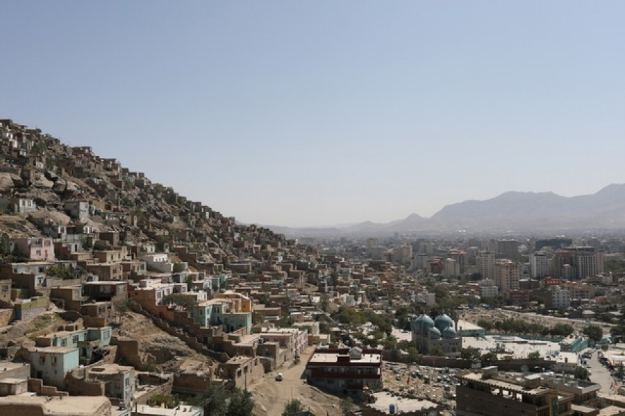 A general view of the city of Kabul, Afghanistan, September 5, 2021. WANA via REUTERS