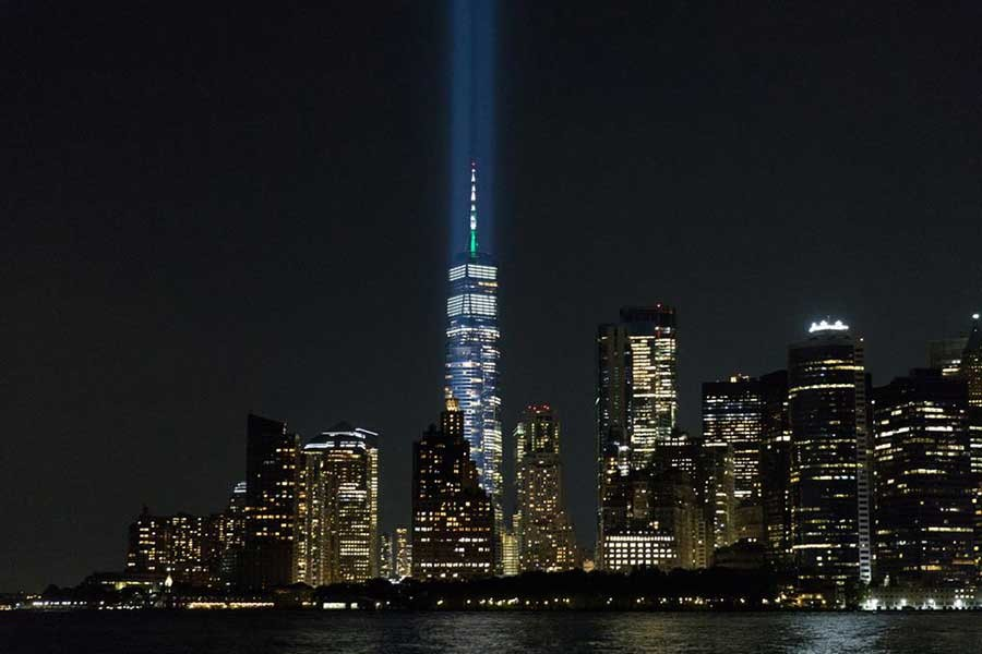 The tribute in lights is tested before the 20th anniversary of the September 11 attacks in New York City in US on September 7 this year –Reuters file photo