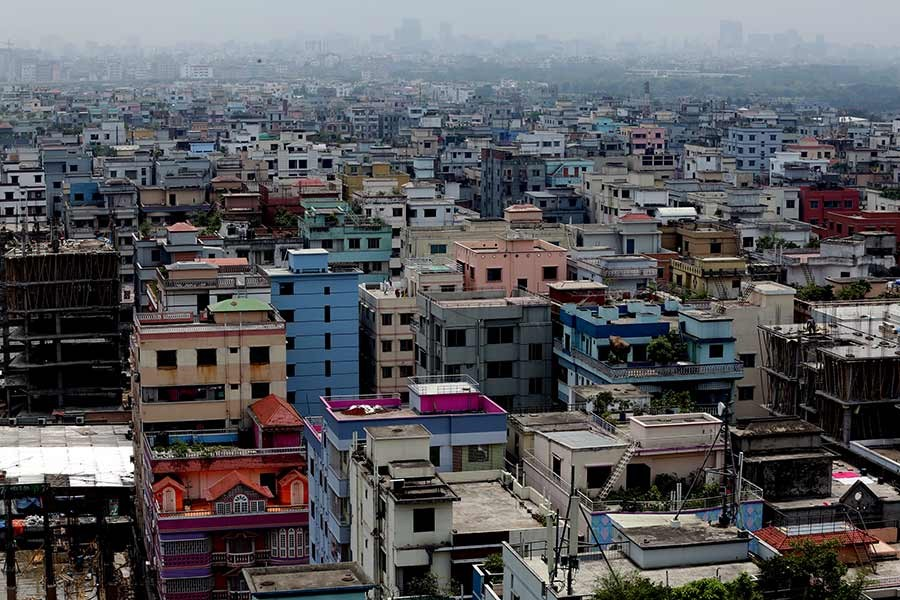 A view of the capital city, Dhaka