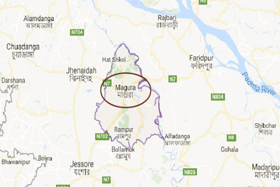 two separate cases were filed with magura police station in connection with the incidents