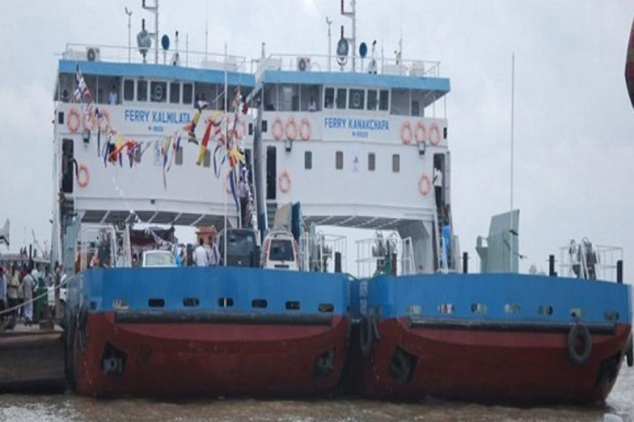 Due to heavy current in the Padma River, the ferries are taking long time to cross the river. - File photo