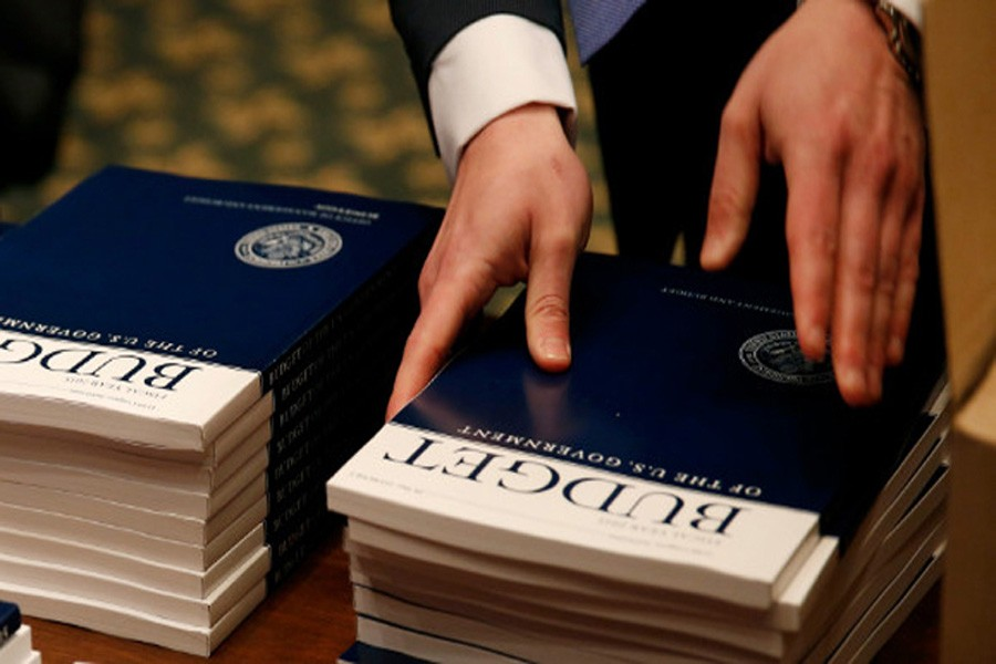 US budget deficit falls to $42.9b in July