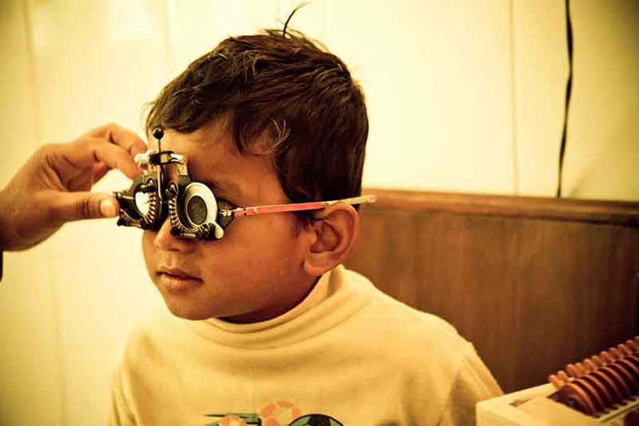 Many children in BD suffer from eyesight problems