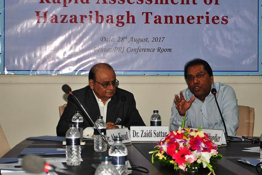 """The South Asian Network on Economic Modeling (SANEM) organises dissemination on """"Rapid Assessment of Hazaribagh Tanneries"""" on Monday in Dhaka."""