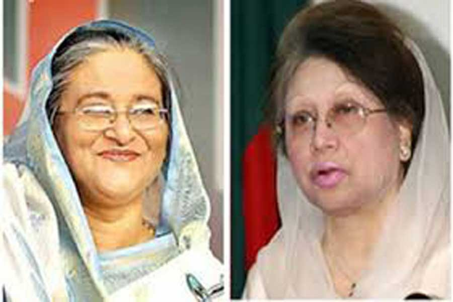 Khaleda also sends Eid card to Hasina