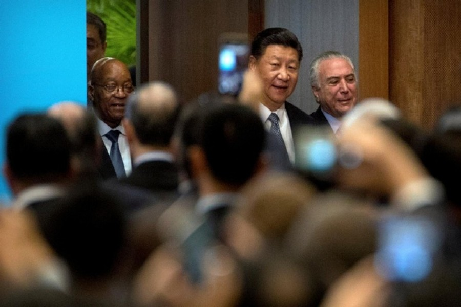 Xi says BRICS must promote open world economy