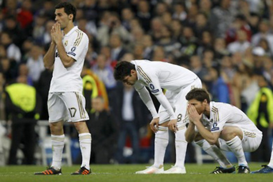 Madrid drop points for two consecutive matches