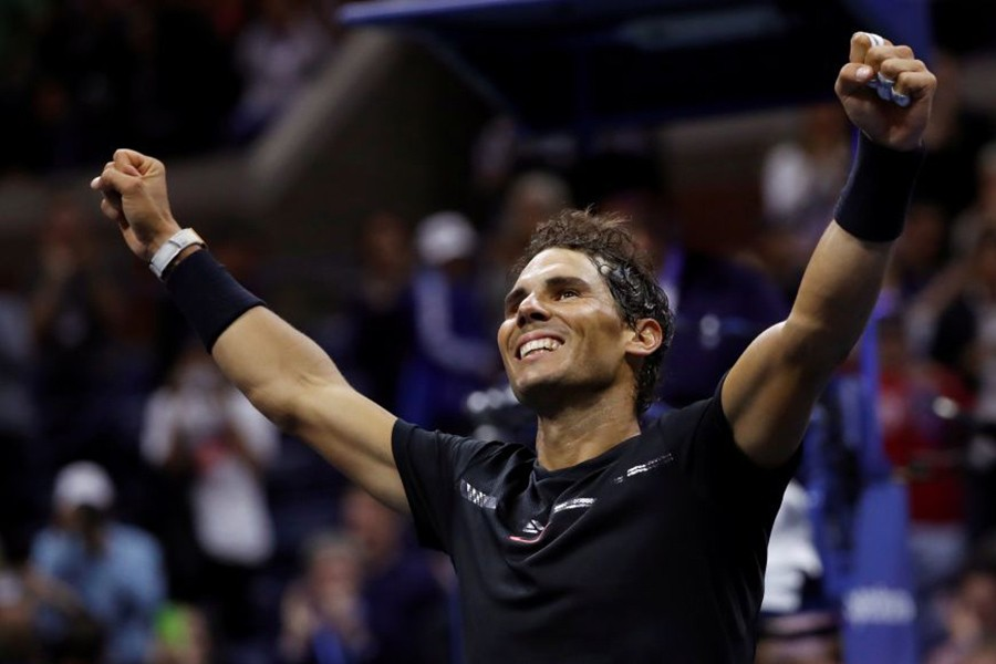 Rafael Nadal secured victory in two hours and 28 minutes on Arthur Ashe Stadium. - Reuters