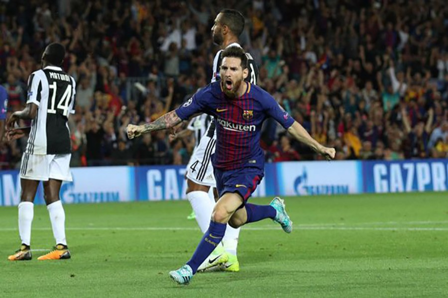 Lionel Messi has now scored against 27 different clubs in the Champions League. - Reuters photo