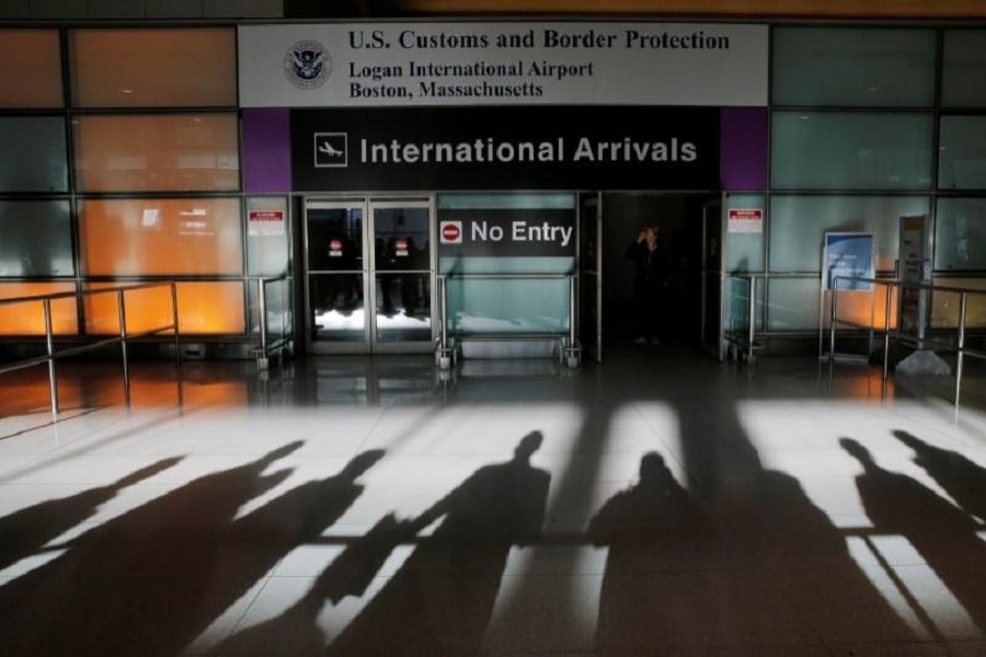 An international traveller arrives after US President Donald Trump's executive order travel ban at Logan Airport in Boston, Massachusetts, US January 30, 2017. Reuters/File Photo