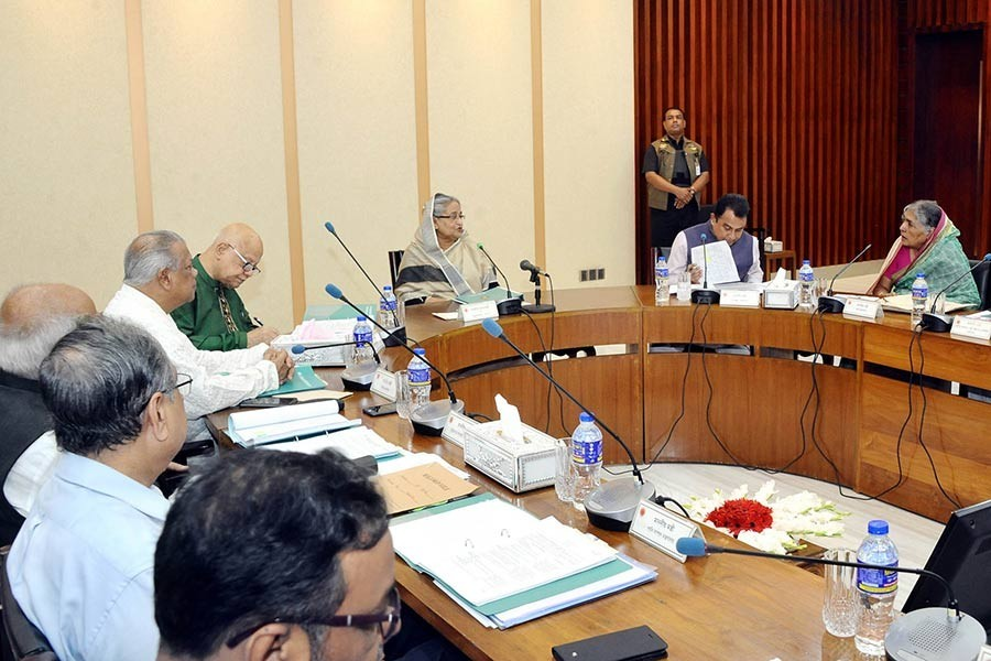 The cabinet approves 10 projects worth Tk 51.81 billion at a meeting with Prime Minister Sheikh Hasina in the chair on Wednesday. File Photo