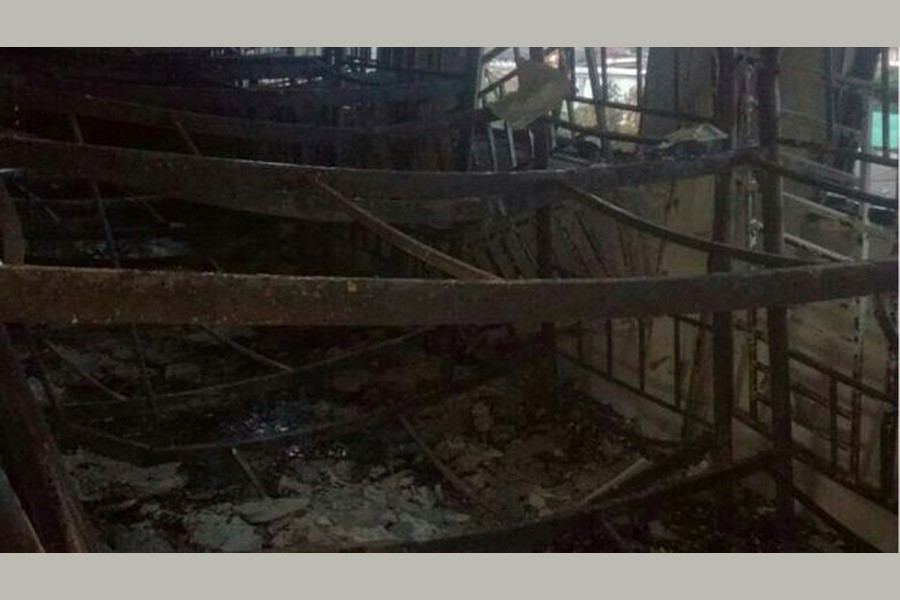 Picture from inside the school showed charred beds and scorched windows on the top floor. Photo credit: Reuters