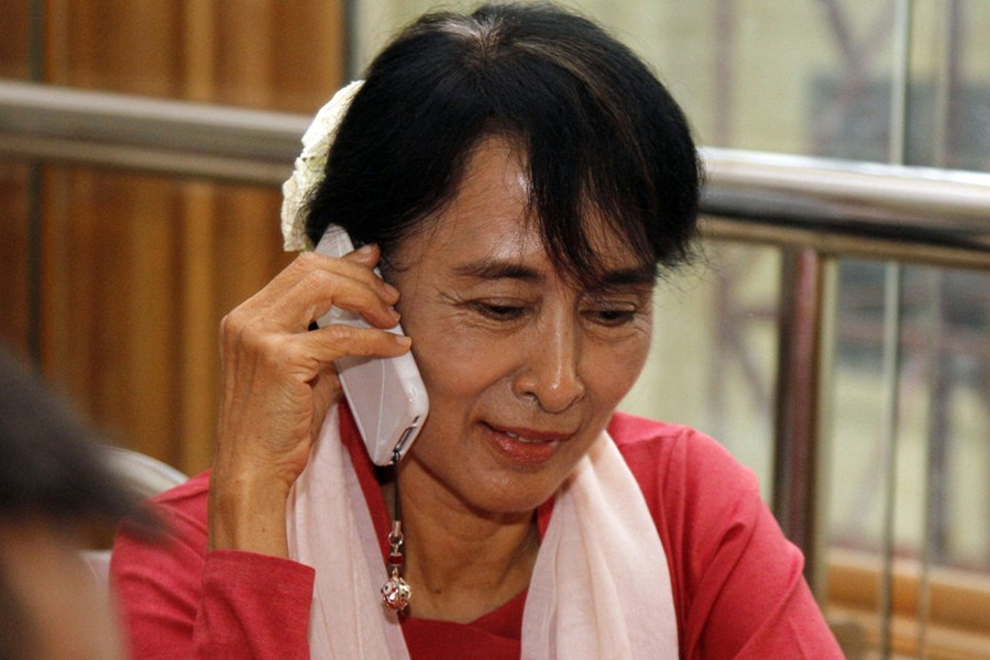 Suu Kyi urges aid for Rakhine state