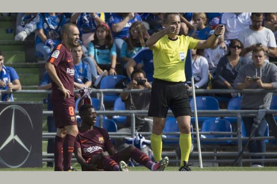 Dembele faces four month injury lay-off