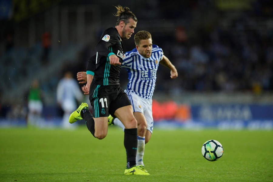 Bale has now scored six goals against Real Sociedad at the Anoeta. - Reuters photo
