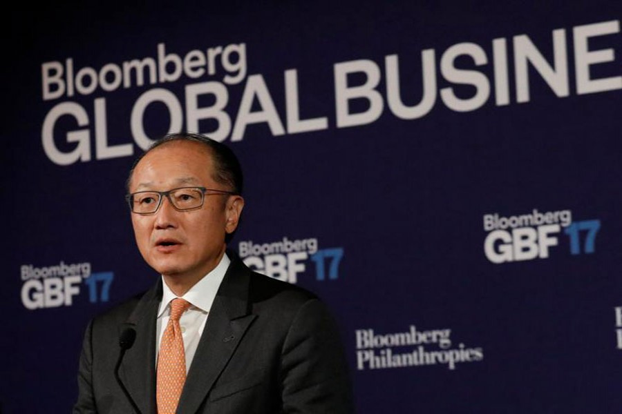 World Bank president Jim Yong Kim speaks at the Bloomberg Global Business Forum in New York City, US. - Reuters