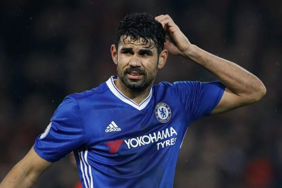 Costa was told by text message that he was not in Antonio Conte's plans for this season. - Reuters file photo