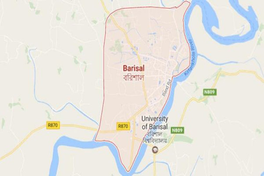 Google map showing Barisal district
