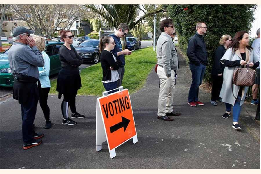 NZ's ruling party takes lead in general election