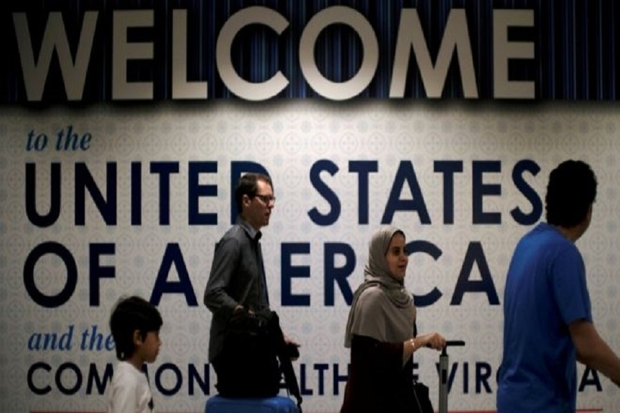 Passengers arrive at Washington's international airport in July after the Supreme Court. Reuters/Files