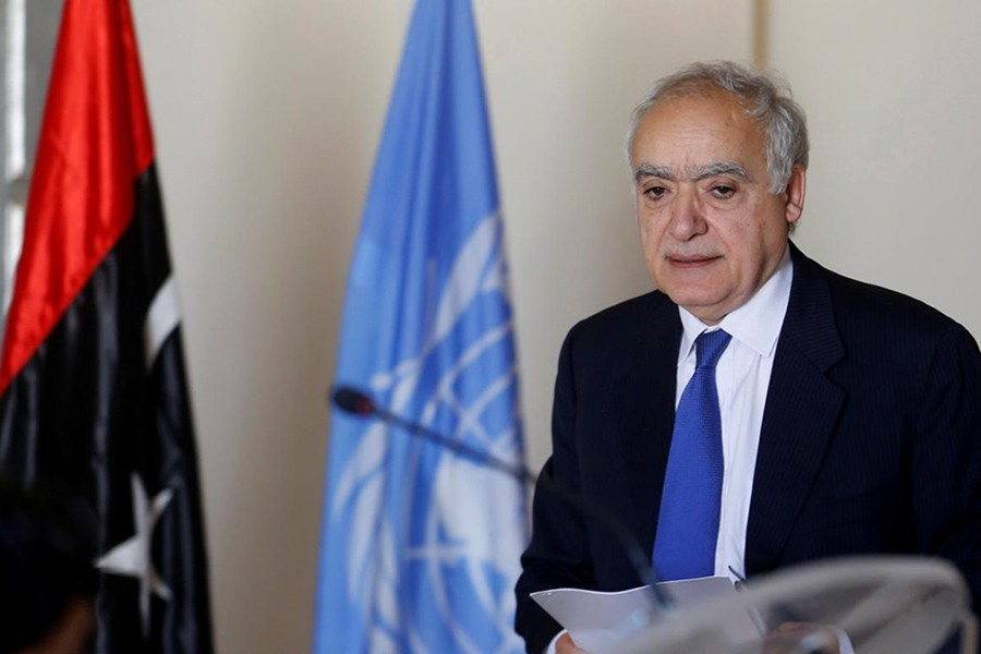 Ghassan Salame, UN Libya envoy, arrives for a meeting in Tunis, Tunisia on Tuesday. - Reuters photo