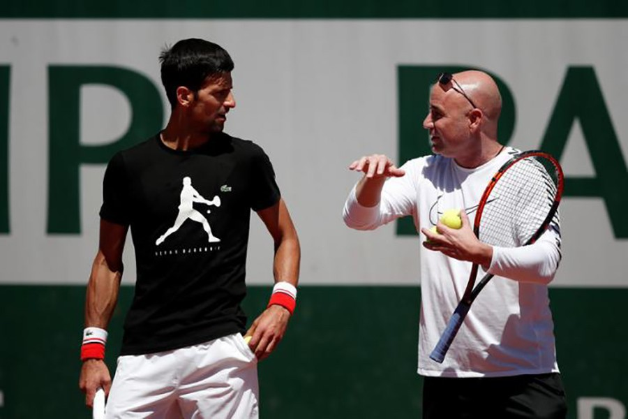Agassi, who won eight Grand Slam titles, four fewer than Djokovic, will remain as the latter's head coach. - Reuters file photo