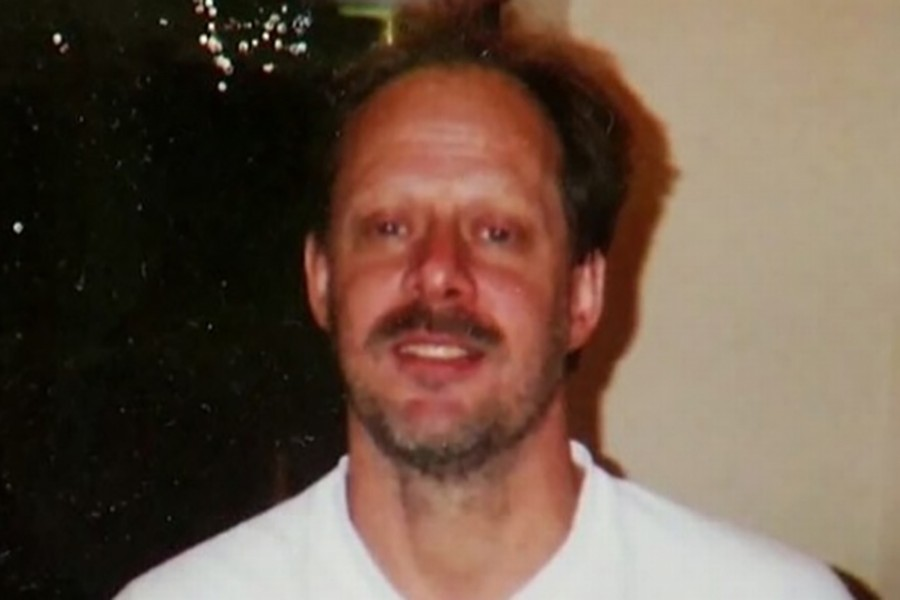 Las Vegas shooter Stephen Paddock seen in an undated photo in a still from a Reuters video.