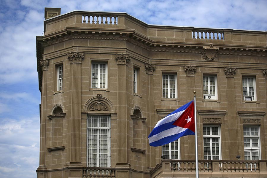 The Cuban embassy in Washington. Reuters Photo