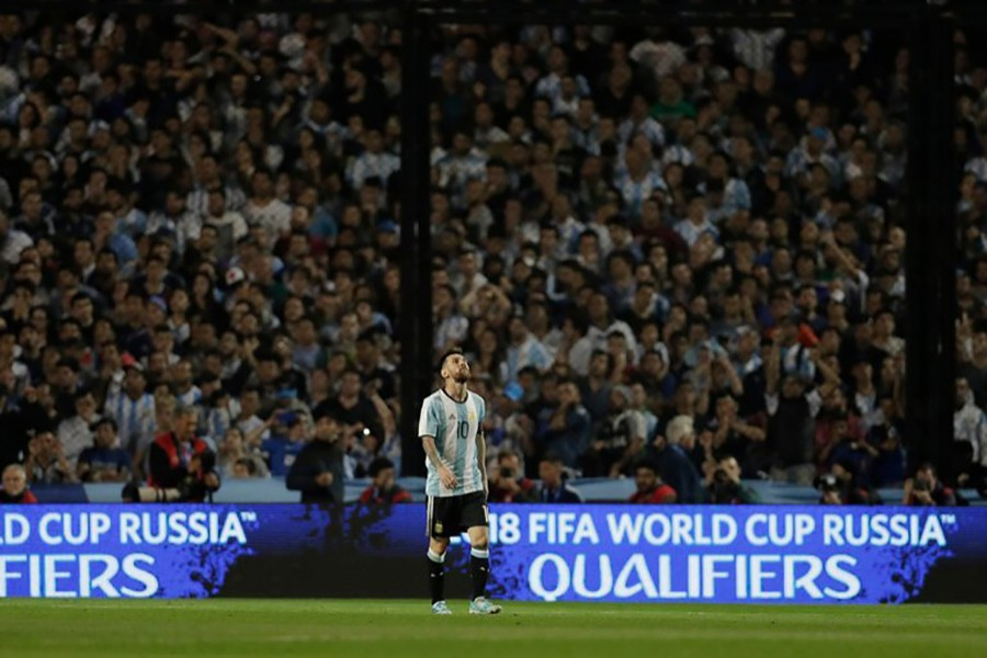Lionel Messi and Argentina have little chance of making the 2018 World Cup in Russia after a 0-0 draw against Peru on Thursday. - AP photo