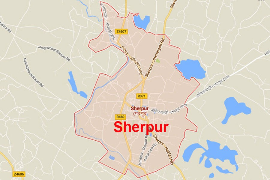 Google map showing Sherpur district