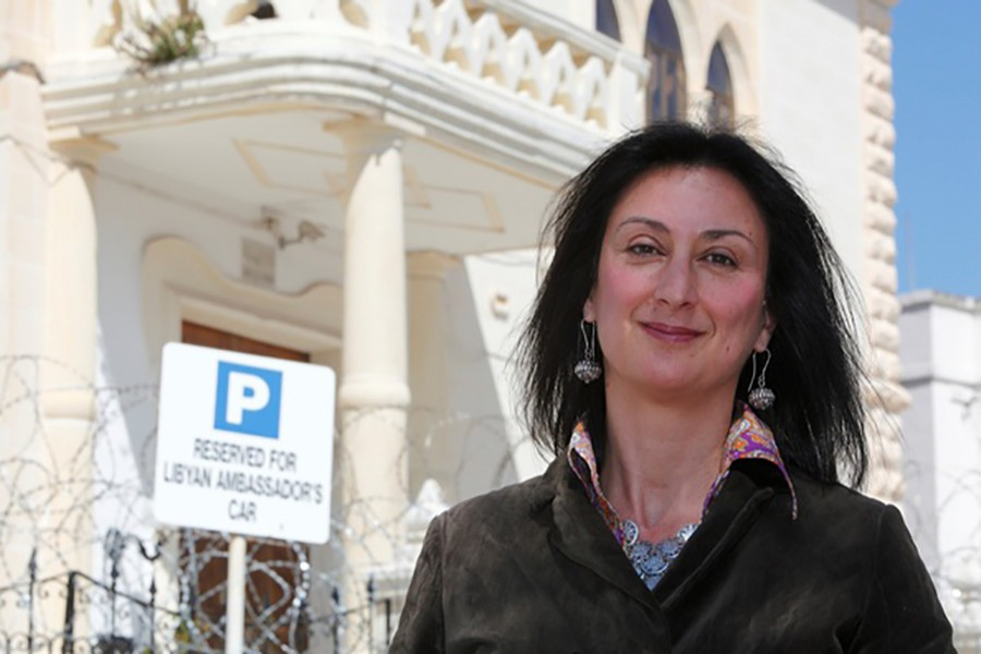Investigative journalist Caruana Galizia was killed after a powerful bomb blew up a car killing her in Bidnija, Malta on Monday. - Reuters file photo