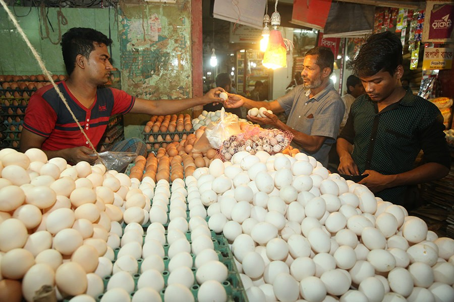 Intake of eggs and chickens has jumped significantly over the last six years