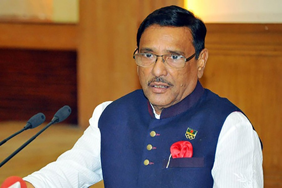 Quader terms attack on Khaleda's motorcade 'staged'
